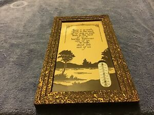 """Vintage Theometer Picture with Saying Framed: 11.5"""" by 6.25"""""""