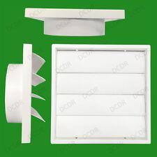 """150 mm 6"""" canalizzazione BIANCO GRAVITY Flap Muro Cucina Estrattore ventilatore la griglia di ventilazione"""