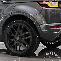 "SATIN BLACK 4 New Alloy Wheels Tyres 20"" Range Rover Evoque 5x108 Volvo XC"