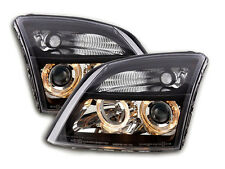 Vauxhall / Opel Vectra C MK2 2002-2005 Black Angel Eyes Headlights Pair RHD/LHD