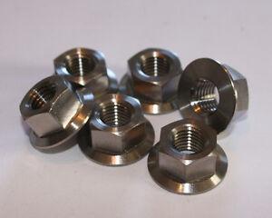 6 Titanium flange hex head nuts  M6x1.00mm pitch