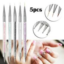 5pcs Nail Art Dotting Tool Pen Dual-ended Gem Crystal Rhinestone Picker Manicure