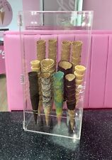 More details for 12 hole ice cream cone display storage cabinet acrylic. waffle cone holder. uk
