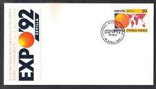CYPRUS 1992 SPAIN SEVILLA SEVILLE UNIVERSAL EXPO 92 NICE OFFICIAL FDC