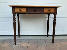 More details for characterful antique yellowwood and stinkwood cape dutch turned leg side table
