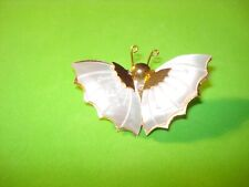Carved Mother of Pearl Butterfly Brooch Pin