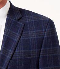 Lauren Ralph Lauren Blazer Size 50L Men Wool Suit Jacket Blue Brown Windowpane