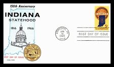 OAS-CNY #142 FDC INDIANA STATEHOOD FLUEGEL 1966 2 OR MORE AUCTIONS SHIP FREE