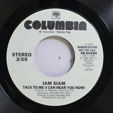 Rock Promo 45 I Am Siam - Talk To Me (I Can Hear You Now) / Talk To Me (I Can He