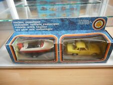 Joal Set Mercedes + Trailer + Boat in Yellow on 1:43 in Box (Joal nr: 151)