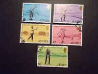GB Jersey 2002 Commemorative Stamps~Golf~Very Fine Used Set~UK Seller