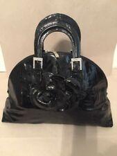NWT Renato Angi Venezia Handbag Black Patent Leather Made in Italy