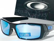 NEW* OAKLEY GASCAN BLACK w POLARIZED Deep Water Blue Iridium Sunglass oo9014-15