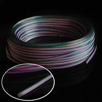 2-50M 4-PIN 22AWG RGB Extension Wire Cable Cord for 3528 5050 RGB LED Strip US
