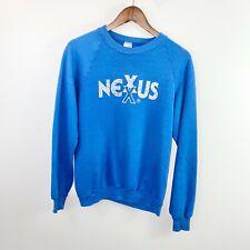 Vintage 90s Jerzees Nexus Blue Crewneck Sweater Size Large L USA Made