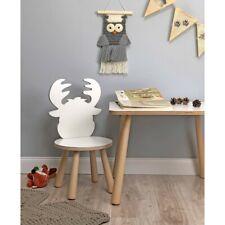 Krzesełko ŁOŚ LEOŚ - drewniane krzesełko dla dzieci białe lub naturalne