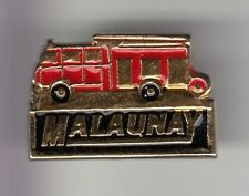 RARE PINS PIN'S .. POMPIER FIRE CAMION TRUCK INCENDIE BRIGADE SP MALAUNAY 76 ~DL