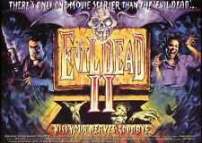 Evil Dead 2 Poster 03 A3 Box Canvas Print