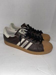 2006 Adidas Superstar 1 Shell Toe Premium Brown Gum Bottoms size 14