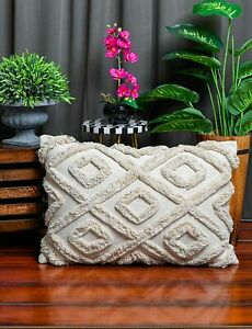 Latest Decorative Shaggy Pattern Cotton Pillow Covers 16 X 24 Inches