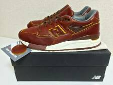 NEW BALANCE × HORWEEN M998DW Leather Sneakers Brown Yellow US 9 27.0cm Only 300