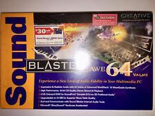 NEW Factory Sealed Creative Sound Blaster AWE 64  Value ISA Sound Card - SB4500