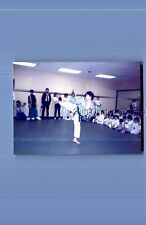 Found Color Photo I+9486 Teen Boy In Karate Uniform Kicking
