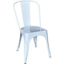Replica Tolix Dining Chair Steel Xavier Pauchard Cafe Restaurant White - VIC
