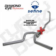 "Diamond Eye 4"" Turbo-Back Exhaust No Muffler Aluminized  K4348A-RP"