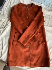 Primark Suede Terracotta Red Coat Size 6