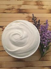 TRIPLE WHIPPED ORGANIC UNREFINED SHEA BUTTER BODY MOISTURIZER- LAVENDER 8 OZ