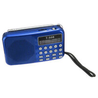 PF T508 Mini Portable LED Light Stereo FM Radio MP3 Music Player TF USB Speaker,
