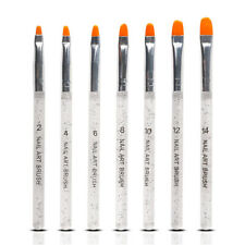 7pcs Acrylic Nail Art Brush Pen UV Gel Painting Drawing Liner Polish Brushes NEW