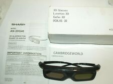 Sharp AQUOS AN3DG40 Active 3D Glasses NEW OLD STOCK in BOX and CASE