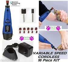 MGT Grooming CORDLESS RECHARGABLE DOG CAT BIRD NAIL Claw Trimmer GRINDER SET KIT