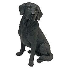 Realistic Pet Lab Black Dog Statue Labrador Retriever Sculpture  NEW