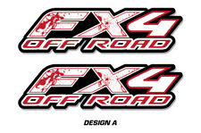 """FX4 Off Road Truck Bed Decal Set For Ford F150 Raptor Stickers 15""""X4"""" BLOOD"""