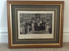 Antique 1887 Print Queen Victoria of The Christening of the Princess Royal.