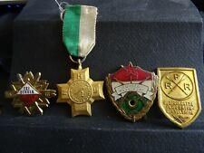4 Lot vintage Soviétique Lot de broches Red Émail pinback Collectible M 206