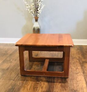 Vintage Mid Century Modern Niels Bach Denmark Solid Teak Coffee Table
