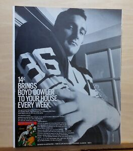 1969 magazine ad for Sports Illustrated - Football, Green Bay Packer Boyd Dowler