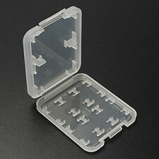 8 slots Micro SD TF SDHC MSPD Memory Card Storage Holder Hard Plastic Case