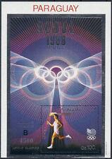 Briefmarken mit Motiven von den Olympischen Spielen aus Paraguay