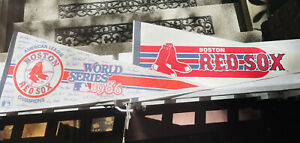 Set Of Two Boston Red Sox Felt Pennants-Full Size-1980's And 1986 World Series