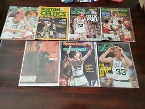 Lot of 7 Boston Celtics vintage magazines 1984 Championship Yearbook, Larry Bird