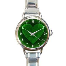Corazón mágico pulsera con dijes encanto Reloj Regalo De Batería Verde artística paz Vegano