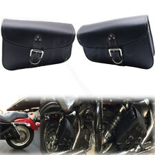 2 Motorcycle PU Leather Saddle Bag For Harley Sportster XL 883 Hugger Sportster