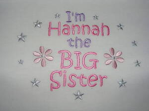 I'm the Big Sister T-shirt - can be personalised