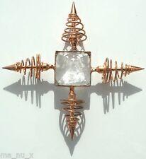 Crystal Quartz Bronze Coil Point Programmable Pyramid Energy Generator