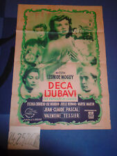 ENFANTS DE L'AMOUR FRENCH SEXY VALENTINE TESSIER 1953 PASCAL EXYU MOVIE POSTER